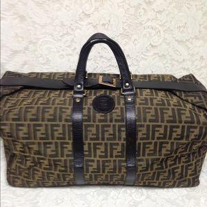 Fendi Zucca Coated Canvas Brown Luggage